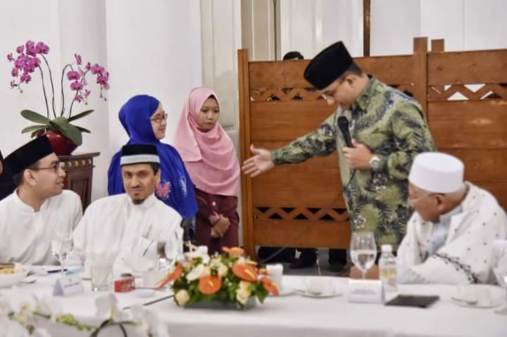 Gubernur Anies Jamu Qoriah Rifdah di Balai Kota